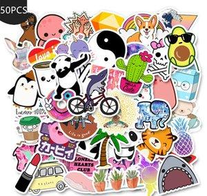 50 adet / DIY Bavul Dizüstü Bisiklet Kaskı Araba Çıkartmaları L çok Cartoon Sarı VSCO Sticker için Chidren Oyuncak Su geçirmez Çıkartma