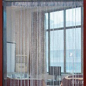 Linha Decorativa Cortinas Cordas Cortinas de Prata Tópico Janela Cortina de Partição