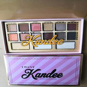 MaquillageTop de calidad que enfrenta Quiero Kandee dulces gama de colores 15 colores de maquillaje rosa sombra de ojos lindo Elementos envío libre impermeable