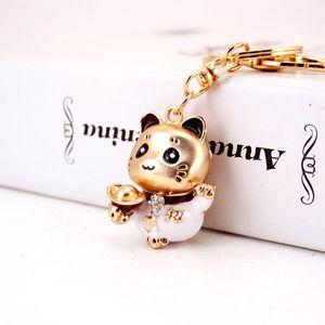 Jewelry Creative Car Pendant Key Chain Lucky Cat Key Chain Bag Pendant