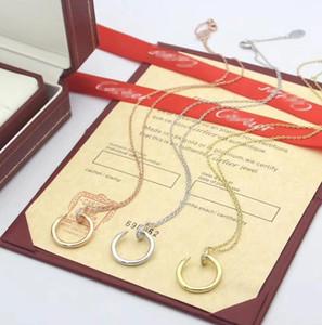 Fashion Pendant Designer Necklace Letter women Men Necklace Crystal Diamond Luxurys Necklaces Lady Jewelry Gift Best Cãrtiêr y