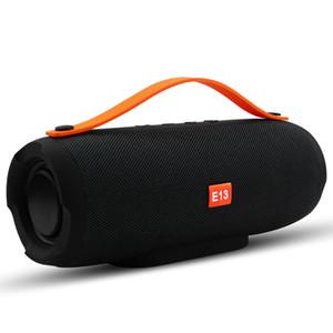 휴대 전화를위한 TF FM과 E13 미니 휴대용 무선 블루투스 스피커 스테레오 스피커 전화 라디오 음악 서브 우퍼는 컬럼 스피커