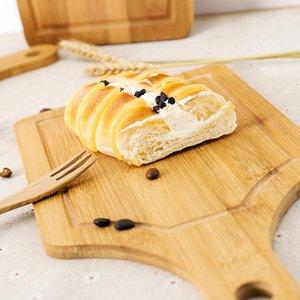 Hot Natural Bamboo Pizza Plate Coupe du Bois Planche à découper Cuisine Planche à découper pour le pain Fruits cuisson des légumes Porte Coupe du Bois