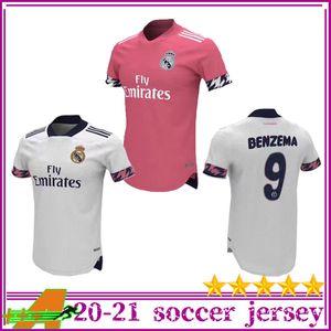 2020 2021 Real Madrid Futbol Jersey Tay Kalite Real Madrid 20 21 TEHLİKESİ Modric BENZEMA futbol atletler özelleştirilmiş futbol Üniformalar