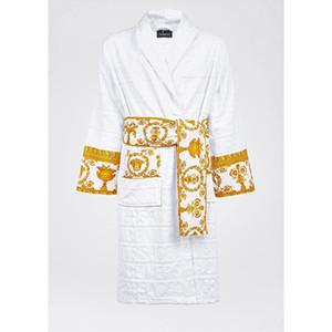 Le Vase Accueil Hôtel baroque avec jacquard Medusa peignoirs Logo impression de luxe de nuit Robes 100% Fournitures de bain en coton Robes