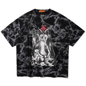 Мужская футболка матч Повседневного Хип-хоп граффити Изображение печать Пара Мода Cozy Негабаритного Багги высокого качество Streetwear