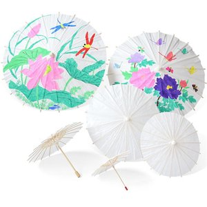 حار الزفاف المظلات ورقة بيضاء مظلة الصينية البسيطة مظلة الحرفية 4 قطر 20 30 40 60CM المظلات الزفاف للبيع بالجملة