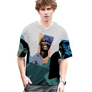 RIP Amerika Rapçi Erkek Tişörtü Moda Hippop 3D POP SMO Baskılı Tişörtler Casual Gevşek Kadın Erkek Tees