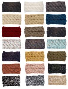 Chapeau tricoté pour femmes Heavan Bonnets chauds stretch torsadé câble tricot torsadé chignon chapeaux chapeaux chapeaux giru chapeau chapeau chapeau chapeau de tête de tête 21 couleurs DC978