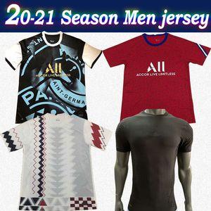 20-21 Paris Training soccer jersey MBAPPE ICARDI 2020 Men Red white soccer shirt NEYMAR JR Customized paris black football uniform On sale