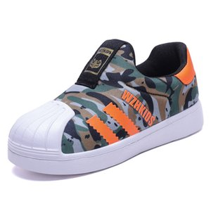 New Kids Canvas Kids Scarpe sportive Candy Color Girls Slip on Loafers Lattice Baby School Shoes Casual Boys Flats
