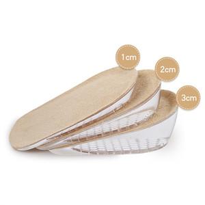 1209 Gel Heel Pad, Silicone Heel Height Zapato Lift Aumento de plantilla Heel Insert Pad Pad Hombre Mujer Zapato Inserts Taller Altura Lift