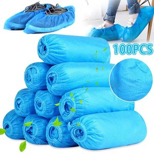EEUU Stock desechable cubierta del zapato Cubiertas para limpieza de pisos para no Tejidos de Overshoes arranque antideslizante Olor a prueba los zapatos mojados Galosh Prevenir FS9519