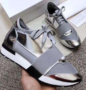 2020 Marken-Designer-Sneaker Mann Womans beiläufige Schuh-echtes Leder-spitze Zehe Race-Gitter-Läufer Schuhe Im Freien Trainer c22