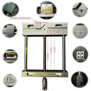 Neue CNC-Parallel-Jaw Vice Aluminiumlegierung Flachzange Vice Für CNC-Stich-Fräsmaschine Marke Geschnitzte