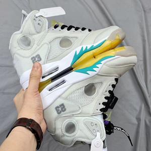 5 OW jaune grisâtres langue réfléchissantes 3M Chaussures CT8480-105 5s V Sports Basketball Chaussures Sneakers meilleurs entraîneurs de qualité avec la boîte originale