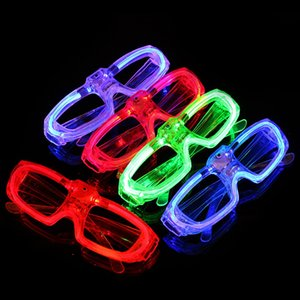 Best! LED Glasses Frame Luminescence Battery Operated Button Switch 3 Modes Cool Festival Party Lighting Supplies Without Lens