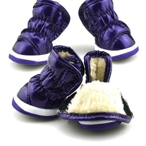 Trendy Winter Ruffle Soft PU Leather Pet Small Dogs Booties Snow Boots Shoes pet dog shoes dog winter warm shoes XS-XL