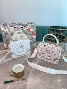 xshfbcl New 2020 designer ladies luxury portable shoulder dual-use mobile phone bag L flower female chain shoulder strap handbag