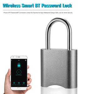 Беспроводная блокировка Smart BT Lock с телефоном App Password / BT Connection Unlock нет замочной скважины нет ключей водонепроницаемый дизайн Безопасный замок