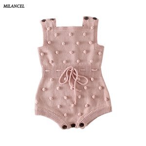 Milancel 2019 Baby Body Spring New Baby Boys Clothes Hecho a mano Prom Toddler Girls Body Body de punto para Baby Girls Y19050602