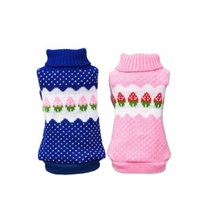 Small Dog Strawberry Clothes Chihuahua Dog Sweater Puppy Warm Coat Cheap Clothing Pet Dogs Cat Knitwear Winter Costume For Gatos