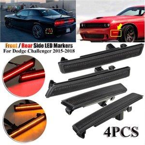 4PCS Front Rear Side LED Markers ( Amber Light Red ) For Dodge Challenger 2020- 2020 2020 Led Turn Signal Lights 2020NEW
