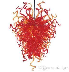 Frete grátis Novo Design Lustres Red lâmpada do teto Quarto decorativa Chandelier LED Light Hanging Lustres Cadeia