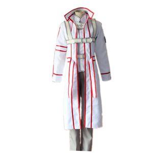 Schwert Art Online Kinghts of Blood Kazuto Kirigaya Weiß Uniformen Cosplay Cosplay Kostüm