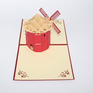 3D Handmade Paper Custom Greeting Cards Lembranças Melhor desejo Cartões Postais Presentes de Natal Convites de Casamento Frete grátis