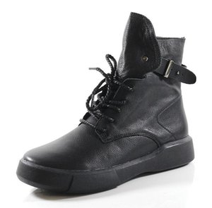 2019 new Martin boots handmade leather women's shoes casual boots single boots Y200702