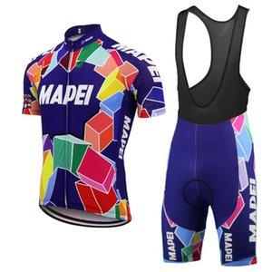 Mapei Sommer Radtrikot Set Men Kurzarm einen.Kreislauf.durchmachenClothing Bib Hosen-Anzug Pro Team MTB Bike Wear Maillot Ropa Ciclismo