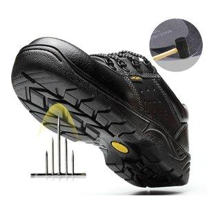 Toe Uomini vacchetta acciaio sicurezza sul lavoro antiscivolo scarpe di usura Puncture Proof Edilizia traspirante Safety Stivali indistruttibili Shoes