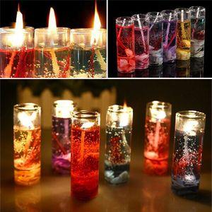 Titular de la vela de cristal de cristal romántica boda Bar Decor Party Candelero Ocean Shells San Valentín perfumado jalea vela