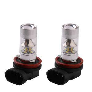 10PCS H4 H7 H8 H11 2835 12SMD 9005 9006 LED 240LM 안개 전구 자동 차 렌즈 전구 60W 자동차 운전 DRL 램프 7000K 8000K
