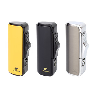 New Fashion COHIBA Cigarette Cigar Lighter Cigar Cigarette Refillable Micro Lighters For Tobacco Smoking Pipe Tool