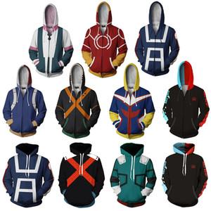 Мой Герой Академия 3D Толстовки С Капюшоном Равномерное Мужчины Женщины Пуловер Толстовки Школьный Колледж Стиль Топы Верхняя Одежда Пальто OutfitMX190830