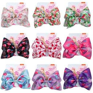 103 Colori neonate clip di capelli della sirena trifoglio Flamingo stampare Accessori per capelli Barrettes Bambini da 8 pollici capelli del copricapo inchina MMA3463