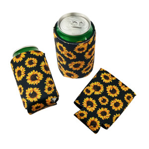 330 ml de 12 oz girassol isolado neoprene cerveja manga de soda cobre pode coolers mangas perfeito para churrasco casamentos partes