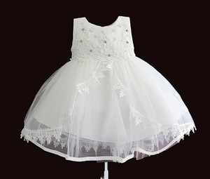 1-4 years old girl princess party flower girl dress girl baby face wash birthday embroidery children dress wholesale J2223