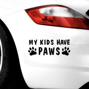 Riflettente miei figli hanno Paws Funny Car vetrofania parete Bummper Laptop parabrezza impermeabile del portello di automobile del motociclo della decalcomania del vinile