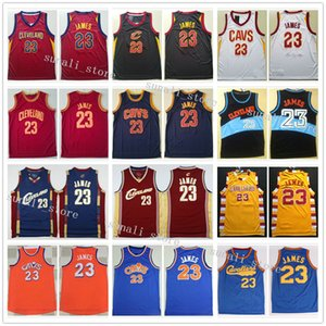 Sewed Men LeBron James 23 Jerseys Basketball Retro Red White Black Color Sports Shirts Cheap Wholesale