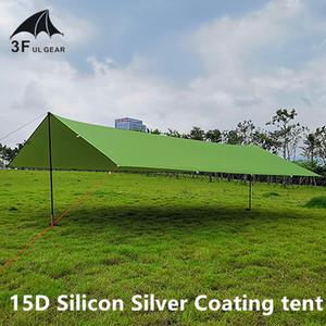 3F UL ENGRENAGEM Ultraleve 15D Silicon Tarp Outdoor Camping Survival Sun Shelter Sombra Toldo Prata Revestimento Pergola Tent Waterproof