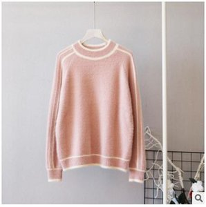 Imitation Mink Velvet Sweater Women's Pullover Short New Winter Loose Student Knit Bottoming Mujer Warm Fashion Sweater MZ3285