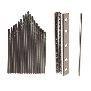 17 Key Kalimba Thumb Piano Thumb Piano Thumb Piano DIY Kit, Incl. 17 Stainless Steel Buttons + Bridge + Saddle Etc