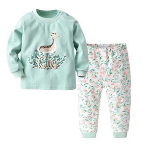 Детский 2pcs Набор для малышей Пижама Мальчиков Underwears Маленьких девочек Sleepwears Детей Nightwears Kid Пижама для детей Нижнего белья младенцев пижамы