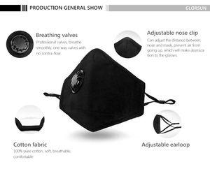 Duman Kokular Ayarlanabilir Kulak sapanlar Yeniden kullanılabilir Respiratörü Yüz siyah Ağız maskesi için Hava Kirliliği toz Maskeler