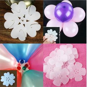 5 В 1 шар Моделирование Защелка Balloon Палочки сливы цветок Tie Latex шар Уплотнительные зажимы Свадьба Украшение утварь
