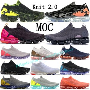 Acrónimo Knit 2.0 Moc Laceless Black Volt Sail Gunsmoke Thunder Blue zapatillas de running hombre mujer Terra Blush University Gold RED fly Sneakers