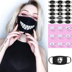STOCK USA, PARTY ANIME RIUSSIBILE Mask Adulto Bambini viso Bocca Muffle Designer Mask Maschera Riutilizzabile Spolvera Warm antivento in cotone lavabile